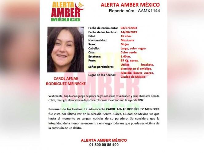 Encuentran en Sonora a menor desaparecida en CDMX; se fue de viaje
