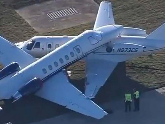 Chocan dos aviones en San Antonio, Texas; así quedaron - Excélsior