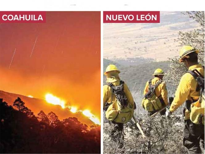 Incendios afectan a 4,605 hectáreas; límites de Coahuila y NL
