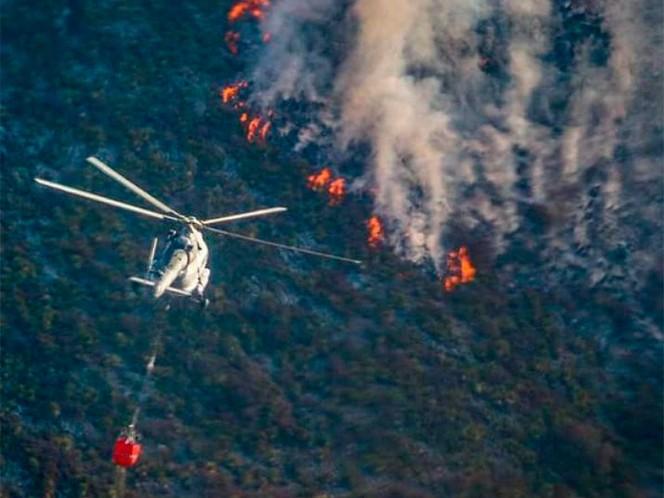 Favorece Frente Frío a la lucha contra incendio en Arteaga