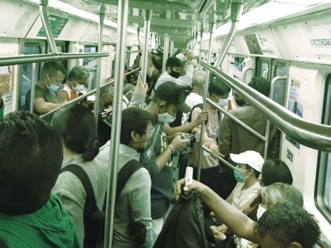 Líneas 1, 2 y 3 del Metro presentan saturaciones; operan menos trenes