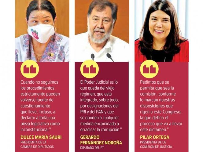 Paran fast track para reforma a Poder Judicial; Morena acusó prácticas dilatorias