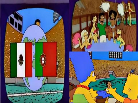 Los Simpsons Predicen Mexico Portugal Para La Final Del Mundial