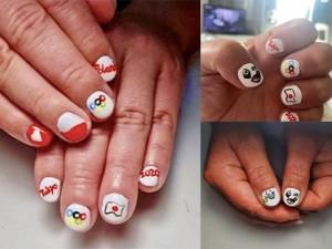 Campeona olímpica muestra su euforia por Tokio con arreglo de uñas