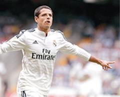 'Chicharito' va de inicio con el Real Madrid ante el Elche