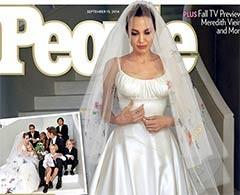 Difunden fotos de la boda de Angelina Jolie con Brad Pitt