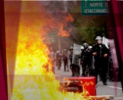 VIDEO: El enfrentamiento entre encapuchados y policías